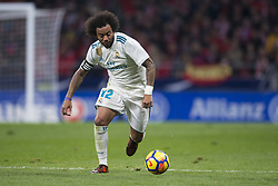 November 18, 2017 - Madrid, Madrid, Spain - Marcelo during the match between Atletico de Madrid and Real Madrid, week 12 of La Liga at Wanda Metropolitano stadium, Madrid, SPAIN - 18th November of 2017. (Credit Image: © Jose Breton/NurPhoto via ZUMA Press)