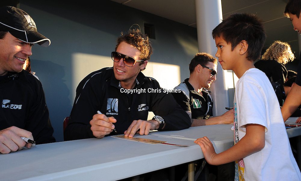 Tim Southee during the Black Caps signing session. Saxon Stadium, Richmond, Nelson, New Zealand. Tuesday 9 August 2011. Photo: Chris Symes/www.photosport.co.nz