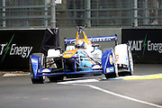 Team Aguri driver, Ma Qing Hua going round the chicane during round 10, Formula E, Battersea Park, London, United Kingdom on 3 July 2016. Photo by Matthew Redman.