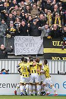 ROTTERDAM - Sparta - Vitesse , Voetbal , Eredivisie , Seizoen 2016/2017 , Het Kasteel , 11-12-2016 ,  eindstand 3-1 , spelers vieren de 0-1 van Vitesse speler Ricky van Wolfswinkel