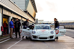 Dino Zamparelli pits the Parr Motorsport run Bristol Sport Racing Porsche 911 GT3 Cup - Photo mandatory by-line: Rogan Thomson/JMP - 07966 386802 - 30/01/2015 - SPORT - MOTORSPORT - Towcester, England - Silverstone Circuit - Dino Zamparelli Test Day - Porsche Carrera Cup GB.