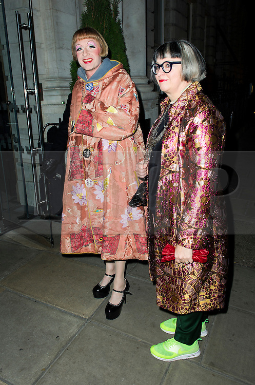© Licensed to London News Pictures. 02/12/2013, UK. Philippa Perry and Grayson Perry , Red's Hot Women Awards cocktail party, The London EDITION hotel, London UK, 02 December 2013. Photo credit : Raimondas Kazenas/Piqtured/LNP