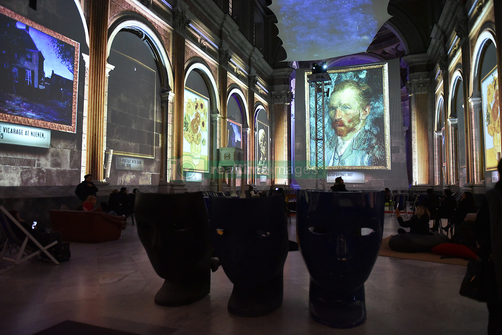 January 3, 2018 - Napoli, Italy - The exhibition of ''Van Gogh, the immersive experience''. The exhibition consists of giants projections of the masterpieces of the Dutch master set up in the church of Basilica Di San Giovanni Maggiore in Napoli. (Credit Image: © Paola Visone/Pacific Press via ZUMA Wire)