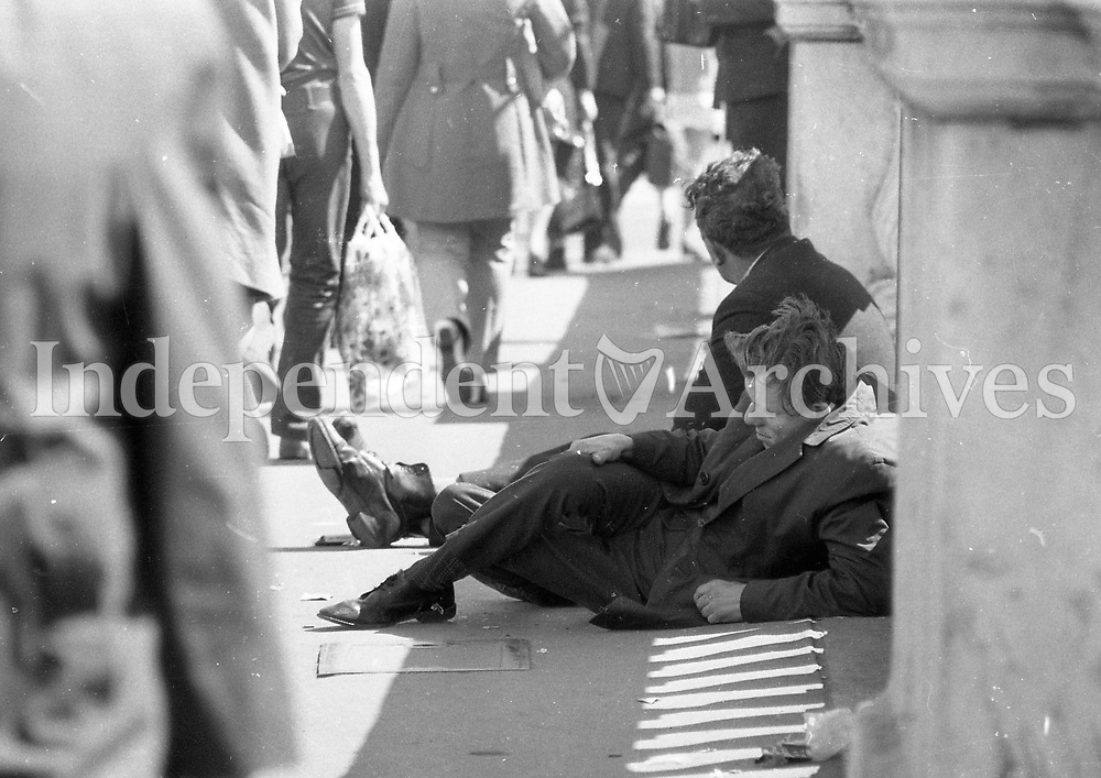 Homeless in Dublin. June 1971.<br /> (Part of the Independent Newspapers Ireland/NLI Collection)