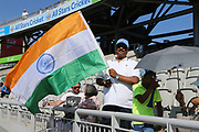 Indian fans get ready for the International T20 match between England and India at Old Trafford, Manchester, England on 3 July 2018. Picture by George Franks.
