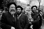 Members of The Lubavitch movement of Orthodox Hassidic Judaism. Stamford Hill, North London