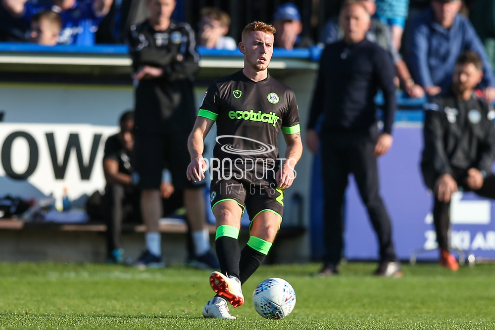 Forest Green Rovers Matthew Worthington(21) during the EFL Sky Bet League 2 match between Macclesfield Town and Forest Green Rovers at Moss Rose, Macclesfield, United Kingdom on 29 September 2018.