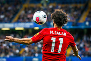 Liverpool forward Mohamed Salah (11) during the Premier League match between Chelsea and Liverpool at Stamford Bridge, London, England on 22 September 2019.