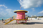 Miami Beach Life Guard house..Florida 2009..Foto © Stefan Falke.