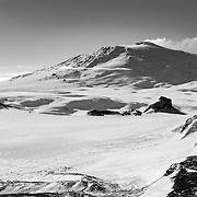 12,400 ft Mount Erebus and Castle Rock, Ross Island, Antarctica