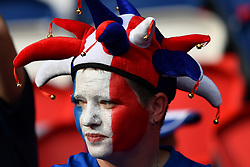 June 28, 2019 - Paris, ile de france, France - French  fan before the quarter-final between FRANCE vs USA in the 2019 women's football World cup at Parc des Princes in Paris, on the 28 June 2019. (Credit Image: © Julien Mattia/NurPhoto via ZUMA Press)