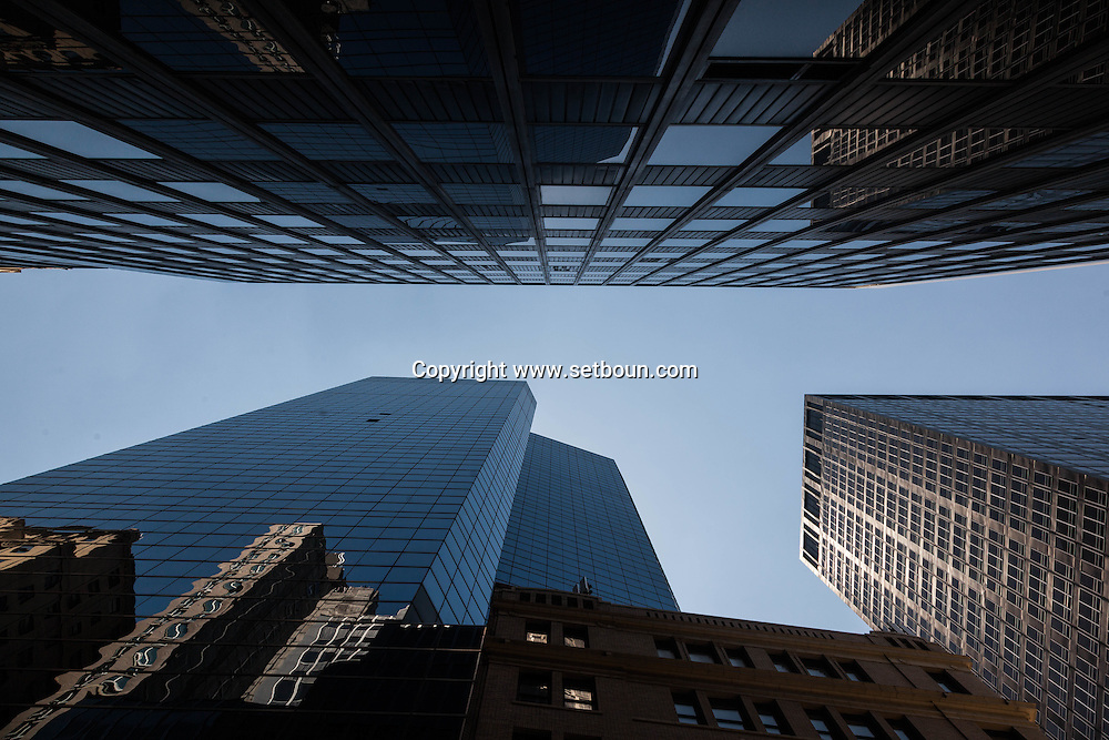 New York. Times square. architecture in  lower manhattan new york /   achitecture du sud de Manhattan