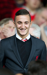LIVERPOOL, ENGLAND - Saturday, October 20, 2012: Liverpool's Samed Yesil during the Premiership match against Reading at Anfield. (Pic by David Rawcliffe/Propaganda)