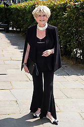 © Licensed to London News Pictures. 22/05/2018. London, UK. GLORIA HUNNIFORD attends the funeral of television presenter Dale Winton at Commonwealth Church in Marylebone, London. Dale Winton, who was found dead at his home on April 18, was famous for presenting Supermarket Sweep and National Lottery game show. Photo credit: Ben Cawthra/LNP