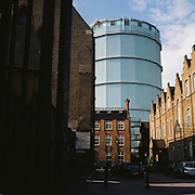 Victorian Gasometer. Battersea, London. 12.2003. UK
