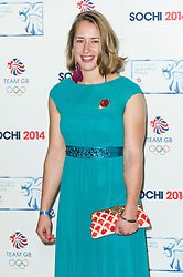 Lizzy Yarnold, British Olympic Ball, Dorchester (Opal Room), London UK, 30 October 2013, Photo by Raimondas Kazenas © Licensed to London News Pictures. Photo credit : Raimondas Kazenas/Piqtured/LNP