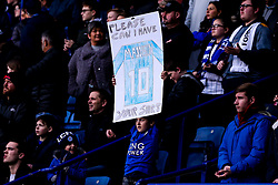 Leicester City fan holds up a banner for James Maddison of Leicester City - Mandatory by-line: Robbie Stephenson/JMP - 29/12/2018 - FOOTBALL - King Power Stadium - Leicester, England - Leicester City v Cardiff City - Premier League