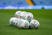 A general view of Mitre match balls before the EFL Cup match between Leeds United and Stoke City at Elland Road, Leeds, England on 27 August 2019.