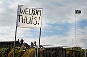 Nederland, Pannerden, 27-11-2006..Krakers hebben opnieuw bezit genomen van fort Pannerden bij Doornenburg...Foto: Flip Franssen/Hollandse Hoogte
