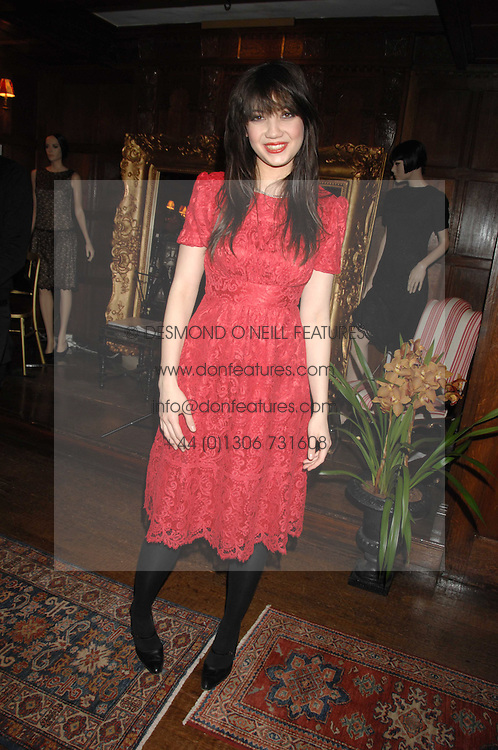 DAISY LOWE  at a tea party to launch Pearl Lowe's Spring 2007 fashion collection held at Libery, Great Marlborough Street, London on 20th March 2007.<br />