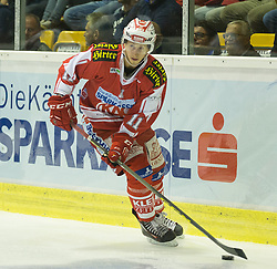 11.09.2015, Stadthalle, Klagenfurt, AUT, EBEL, EC KAC vs Fehervar AV 19, im Bild Daniel Ban (EC KAC, #11) // during the Erste Bank Eishockey League match betweeen EC KAC and Fehervar AV 19 at the City Hall in Klagenfurt, Austria on 2015/09/10. EXPA Pictures © 2015, PhotoCredit: EXPA/ Gert Steinthaler