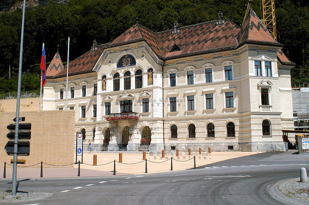 Liechtenstein  Vaduz  June 2008.Government Building.