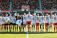 Hommage Charlie Hebdo - 10.01.2015 - Toulon / Racing Metro - 16e journee Top 14<br />