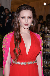 Katherine Langford walking the red carpet at The Metropolitan Museum of Art Costume Institute Benefit celebrating the opening of Heavenly Bodies : Fashion and the Catholic Imagination held at The Metropolitan Museum of Art  in New York, NY, on May 7, 2018. (Photo by Anthony Behar/Sipa USA)