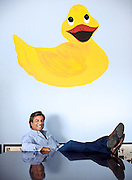 Entreprenuer Matt Plaskoff, owner of One Week Bath, photographed for Remodeling Magazine in Gardena, Calif.
