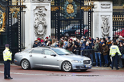 © Licensed to London News Pictures. 13/12/2019. London, UK. Prime Minister Boris Johnson is driven from Buckingham Palace after an audience with Queen Elizabeth II . The 2019 General Election results gave the Conservative Party 364 seats with the Labour Party on 203. Photo credit: Peter Macdiarmid/LNP
