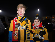 Cambridge United fans during the The FA Cup match between Cambridge United and Manchester United at the R Costings Abbey Stadium, Cambridge, England on 23 January 2015. Photo by Phil Duncan.