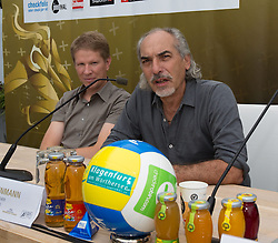 29.07.2014, Klagenfurt, Strandbad, AUT, A1 Beachvolleyball Grand Slam 2014, im Bild Ing. Herbert Taschek, Peter Kleinmann // during the A1 Beachvolleyball Grand Slam at the Strandbad Klagenfurt, Austria on 2014/07/29. EXPA Pictures © 2014, EXPA Pictures © 2014, PhotoCredit: EXPA/ Mag. Gert Steinthaler