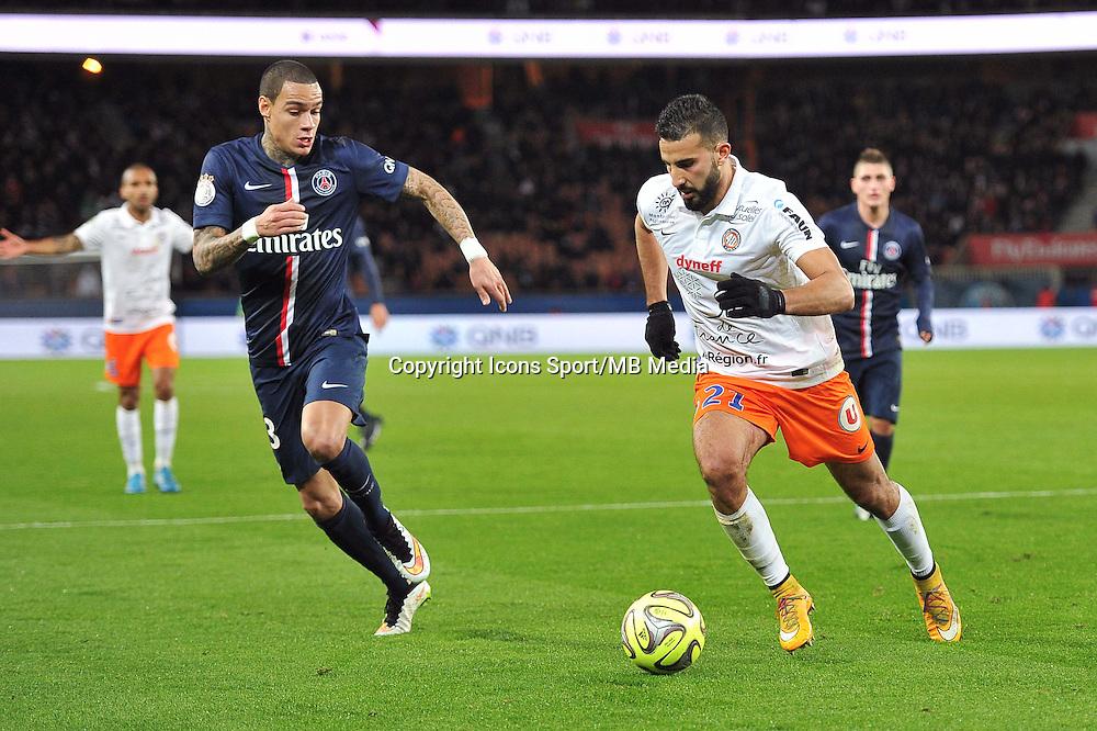 Gregory VAN DER WIEL / Abdelhamid EL KAOUTARI - 20.12.2014 - Paris Saint Germain / Montpellier - 17eme journee de Ligue 1 -<br />Photo : Aurelien Meunier / Icon Sport
