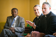The Rev. Dr. Joel D. Lehenbauer, LCMS executive director of the Commission on Theology and Church Relations, introduces himself during a meeting with delegates from the Ethiopian Evangelical Church Mekane Yesus on Monday, Nov. 10, 2014, at the Mekane Yesus Seminary in Addis Ababa, Ethiopia. LCMS Communications/Erik M. Lunsford
