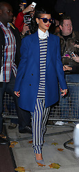 Singer Rihanna leaves her hotel and heads to Westfield Stratford City shopping centre in London, where she will switch on the Christmas lights and perform. UK. 19/11/2012<br />BYLINE MUST READ : JAMESY/GOTCHA IMAGES<br /><br />Copyright by © Gotcha Images Ltd. All rights reserved.<br />Usage of this image is conditional upon the acceptance <br />of Gotcha Images Ltd, terms and conditions available at<br />www.gotchaimages.com