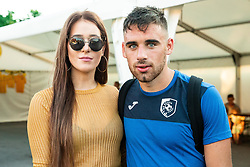 Aljoša Matko of Bravo with his girlfriend in Fun zone after football match between NK Bravo and NK Aluminij in 5th Round of Prva liga Telekom Slovenije 2019/20, on August 9, 2019 in Sports park ZAK, Ljubljana, Slovenia. Photo by Vid Ponikvar / Sportida