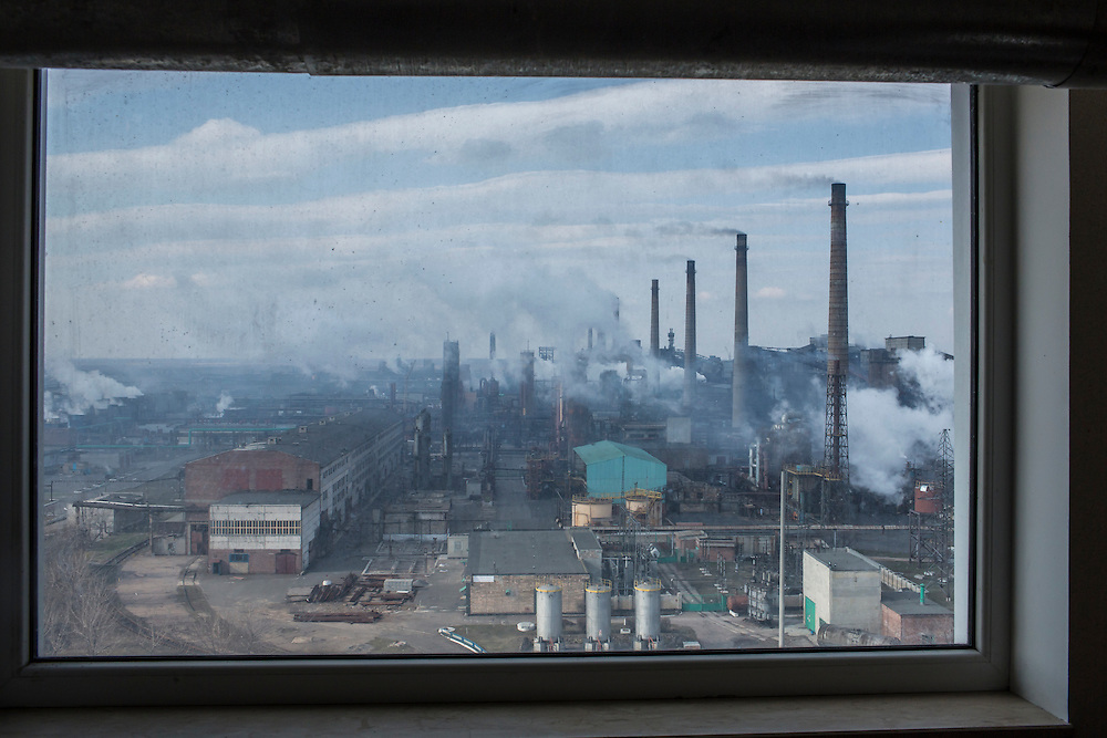 AVDIIVKA, UKRAINE - MARCH 18, 2015: The Avdiivka Coke and Steel plant in Avdiivka, Ukraine. CREDIT: Brendan Hoffman for The New York Times