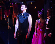 Strictly Ballroom <br /> By Baz Luhrmann <br /> At The Piccadilly Theatre, London, Great Britain <br /> Press photocall <br /> 17th April 2018 <br /> <br /> <br /> Will Young as Band Leader <br /> <br /> <br /> And company