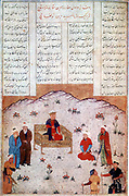The romance and legend of Alexander the Great (356-323 BC) was recounted endlessly in Islamic art and literature from Southern Russia to the gates of India, often under the name of Iskandar. Alexander holding court in China.  After a Persian manuscript.