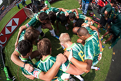 Mar 24, 2012; Hong Kong, CHINA; South Africa defeats United States 15:7 during a Pool B match on day two of the 2012 IRB Hong Kong Sevens at Hong Kong Stadium.(Credit Image: © Hing Choi So/Osports via ZUMA Wire)
