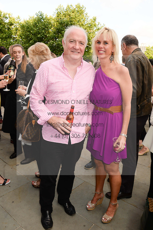 RICK STEIN and his wife SARAH BURNS at the opening party for elBulli: Ferran Adria and The Art of Food - an exhibition at Somerset House, London on 4th July 2013.