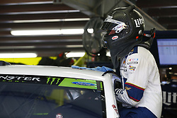 September 22, 2017 - Loudon, New Hampshire, United States of America - September 22, 2017 - Loudon, New Hampshire, USA: Brad Keselowski (2) hangs out in the garage during practice for the ISM Connect 300 at New Hampshire Motor Speedway in Loudon, New Hampshire. (Credit Image: © Justin R. Noe Asp Inc/ASP via ZUMA Wire)