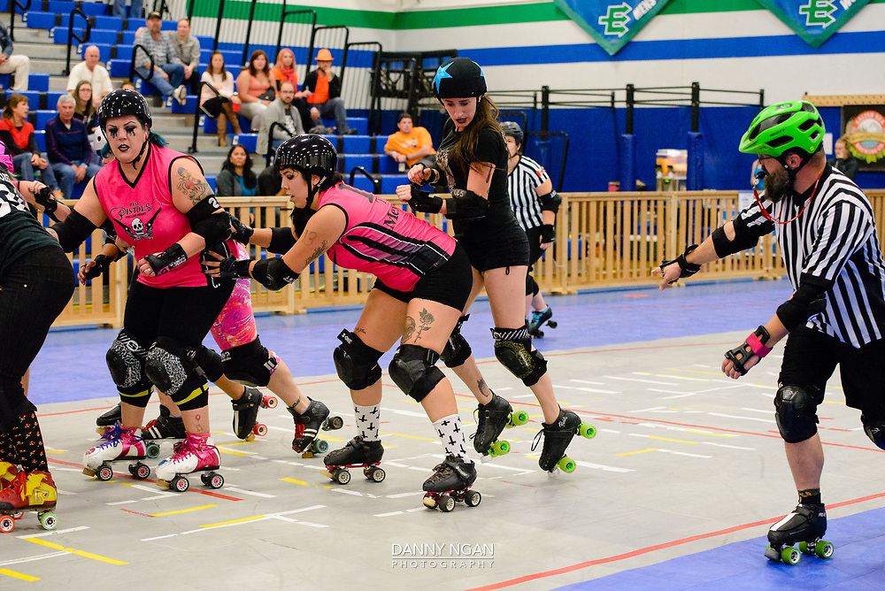 Jet City Rollergirls Season 11 4x4 at Edmonds Community College in Lynnwood, Washington, on Saturday, September 9, 2017. Photo by Danny Ngan.