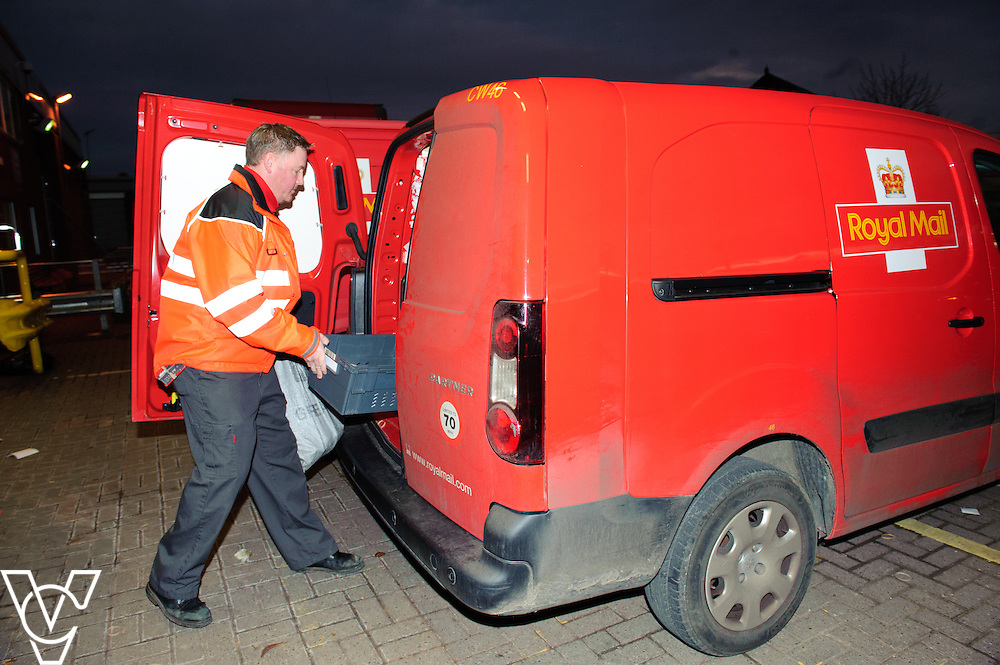Generic stock images at Royal Mail's Crewe Delivery Office.  Pictured is Tony Nightingale.<br /> <br /> Date: February 2, 2016