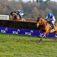 Emperor's Choice and Aiden Coleman winning the 4.10 race