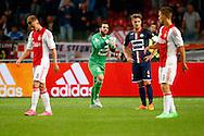 15-08-2015 VOETBAL:AJAX-WLLEM II:AMSTERDAM<br /> Kostas Lamprou van Willem II is kwaad op zijn verdedigers waaronder Jordens Peters van Willem II na de treffer van Ajax. Daley Sinkgraven van Ajax en Jo&euml;l Veltman van Ajax weten dat de wedstrijd is gespeeld<br /> <br /> <br /> Foto: Geert van Erven