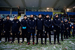 CESENA, ITALY - Tuesday, January 22, 2019: Wales' manager Jayne Ludlow with her staff during the International Friendly between Italy and Wales at the Stadio Dino Manuzzi. (Pic by David Rawcliffe/Propaganda)