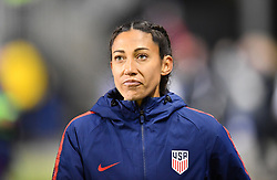February 27, 2019 - Chester, PA, U.S. - CHESTER, PA - FEBRUARY 27: US Forward Christen Press (23) enters the field before the She Believes Cup game between Japan and the United States on February 27, 2019 at Talen Energy Stadium in Chester, PA. (Photo by Kyle Ross/Icon Sportswire) (Credit Image: © Kyle Ross/Icon SMI via ZUMA Press)