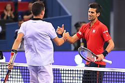 October 15, 2016 - Shanghai, CHINA - Roberto Bautista Agut (Esp) defeated Novak Djokovic  (Credit Image: © Panoramic via ZUMA Press)
