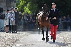 William Fox-Pitt with Fernhill Pimms in the trot up during day one of the Mitsubishi Motors Badminton Horse Trials at The Badminton Estate, Gloucestershire. PRESS ASSOCIATION Photo. Picture date: Wednesday May 2, 2018. See PA story EQUESTRIAN Badminton. Photo credit should read: David Davies/PA Wire
